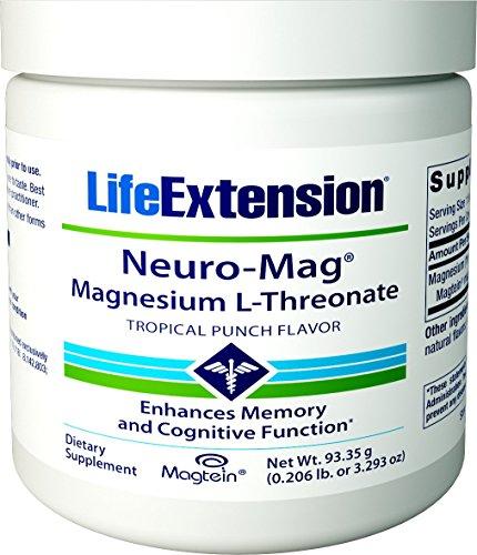 Neuro-Mag, Magnesium-L-Threonat, Tropical Punch Flavour - Lebensverlängerung
