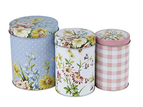 Creative Tops Aufbewahrungsdosen für die Küche, Englischer Garten, Design von Katie Alice, verschachtelt, Shabby Chic, mehrfarbig, 3-teiliges Set -