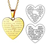 FaithHeart Medaillon Herzkette für Herren Männer mit Heilige Schrift Christus 18K Karat Schmuck für Kinder