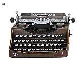 Global- Stile europeo Ferro Materiale Classico Modello di macchina da scrivere d'epoca, fatto a mano in ferro battuto ornamenti decorazioni Retro artigianato, Vetrina Artigianato decorativo ( Colore : #1 )