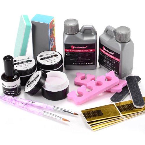 Kit ongles acrylique 10en 1 Manucure tip poudre resine liquide pinceau etc