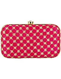 PARIZAAT BY SHADAB KHAN Women's Clutch for Casual Evening,Party and Wedding
