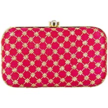 Parizaat By Shadab Khan Women's Clutch (MK-JARX-G1TR_Pink)
