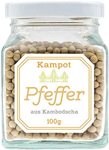 Weißer Kampot Pfeffer, 100 Gramm, legendär und unübertroffen im Geschmack