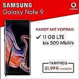 Samsung Galaxy Note9 (schwarz) 128GB Speicher Handy mit Vertrag (Vodafone Smart XL) 11GB Datenvolumen 24 Monate Mindestlaufzeit