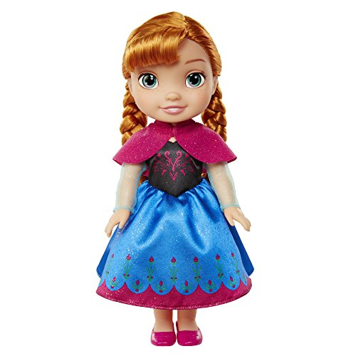 Jakks Pacific Frozen II Anna Muñeca Toddler, Color Set, 35 cm (98942)
