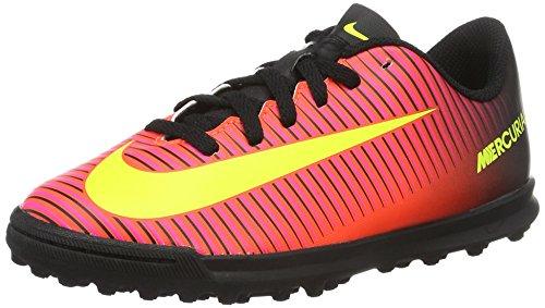 Nike Mercurialx Vortex Iii Tf, Scarpe da Calcio Unisex - Bambini, Rosso (Total Crimson/Volt-Black-Pink Blast), 38.5 EU