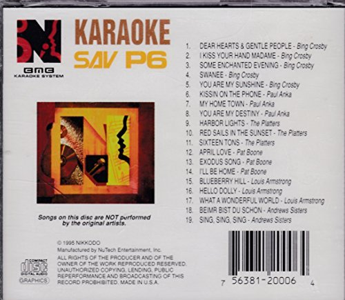 CD Graphics Karaoke- Pop Hits Sav P6 (1995-08-03) - Bmb Karaoke