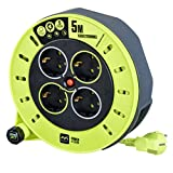 Masterplug CSG05164-PX Pro-XT ultrakompakte Kabeltrommel, 3000 W, 230 V, 5m