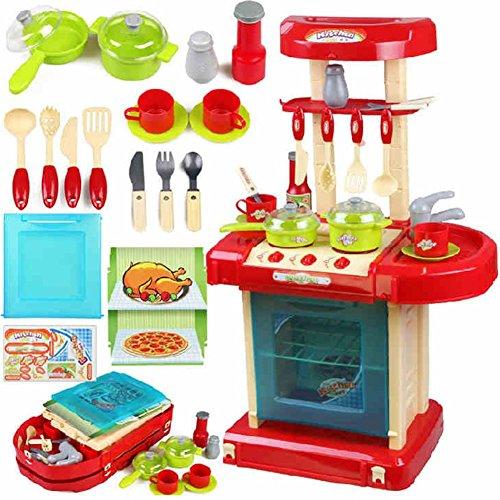 Jouets FEI Enfant Fille cuisine Cuisine Ensemble Vaisselle Éclairage Effets sonores Début Éducation (Couleur : 1)