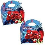 4 Geschenkboxen aus Pappe * ULTIMATE SPIDERMAN * von Marvel // Party Kinder Mottoparty Kindergeburtstag Mitgebsel Geschenktüten Tüten Partyboxen