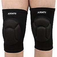 Aodatu Volleyball Knieschützer,Knieschoner Dick Schwamm Kollision Vermeidung Kneepad Anti-Rutsch Knieschoner Volleyball Beschützer(1 Paar).