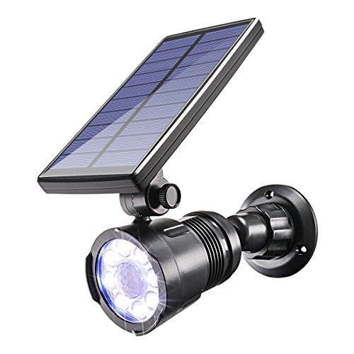 Sunix Solar Bewegungsmelder Outdoor Leuchten, 8 helle LEDs Solar-Gartenstrahler Solar-Scheinwerfer Garten Solar Sicherheitsbeleuchtung, wasserdichte Solarleuchten für Terrasse, Hof, Weg, Veranda, etc