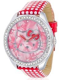 Hello Kitty HK480S-868 - Reloj de pulsera niña, piel, color rojo