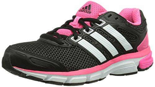 adidas Performance nova stability w Textile, Unisex-Erwachsene Laufschuhe, Mehrfarbig (black 1/running white ftw/neon pink), 38 EU (5)