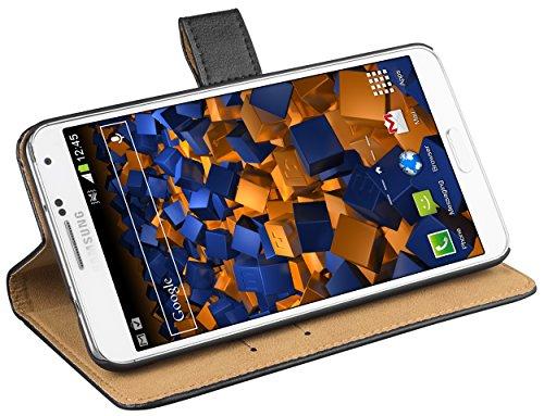 mumbi Ledertasche im Bookstyle für Samsung Galaxy Note 3 Tasche in schwarz - Für 3 Holster Samsung Note