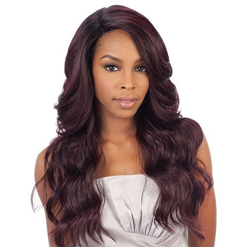 Freetress Equal Brazilian Natural Deep Invisible L Part Lace Front Wig DANITY (1) by Shake-N-Go