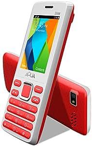 Aqua Shine - 2100 mAh Battery - Dual SIM Basic Mobile Phone - White+Red