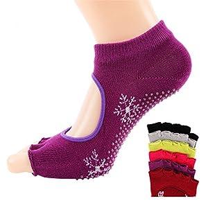 Maybesky Yoga Socken Ms. Leck fünf Finger Baumwolle Sweat Finger Sport Socken Pilates, Anti-Rutsch-Slip-Socken
