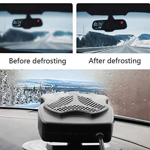 AQOTER Riscaldamento Auto 12V 150W Portatile Riscaldatore Auto Termoventilatore Auto Rapido Sbrinatore Demister Appannatore per Parabrezza Automatico Rotazione di 360 /°