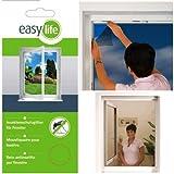 easy life Fliegengitter für Fenster Insektenschutz Fliegennetz mit 5,6 m Klettband Mückenschutz...