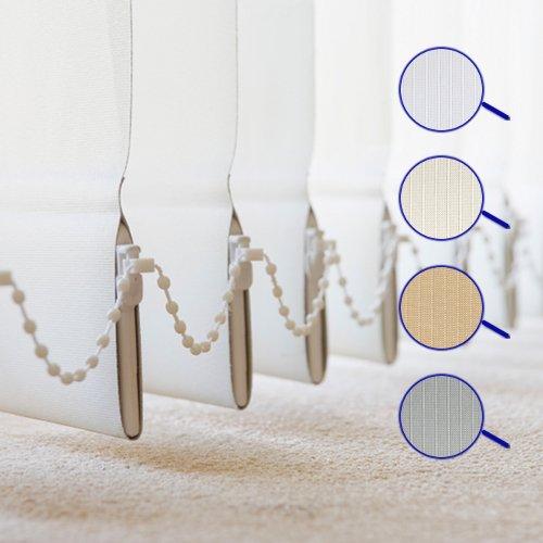 Lamellenvorhang , Vertikal , in 4 Farben , Lamellen 127 mm , Schiebevorhang , Jalousie , Vertikaljalousie , NEU ( Weiss , 150 x 250 cm BxH ) (Stranggepresste Aluminium-lamellen)