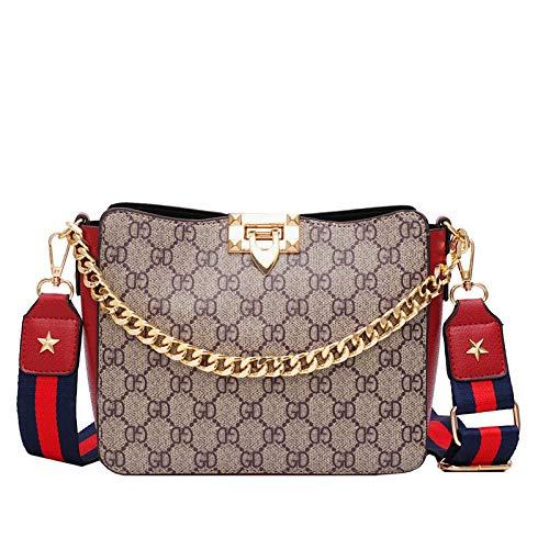 LFGCL Bags womenHandbag Kette Kind Eimer Tasche Schulter umhängetasche, rot
