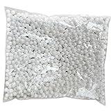 Da.Wa - Boules de mousse en polystyrène - Mousse décorative en forme de perles de remplissage - Fournitures d'artisanat pour remplissage - Taille de 7 à 9 mm, Polystyrène, blanc, 7-9mm