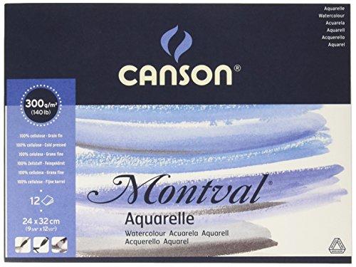 Canson 200807319 Montval Aquarellpapier, 24 x 32 cm, naturweiß