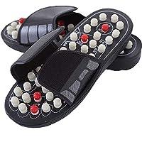 Zapatos de masaje, 1 par de sandalias reflectantes, masajeador de pies, zapatillas de acupuntura