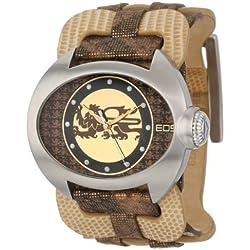 EOS New York Damen 36SBRN Raizel Wide Leather Strap Armbanduhr