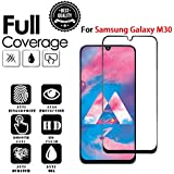 JGDWORLD HD Crystal Clear Full Glue Edge to Edge Tempered Glass Screen Protector for Samsung Galaxy M30 (2019)