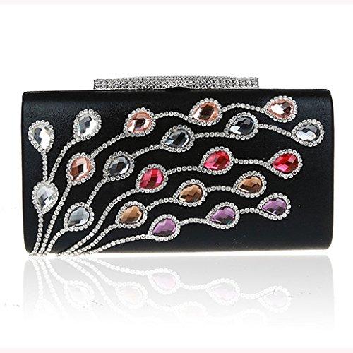 Le pochette banchetto borse vestito bag sposa nuovo sacchetto di sera di modo del vestito borsa del diamante della damigella d'onore ( Colore : 3 ) 1
