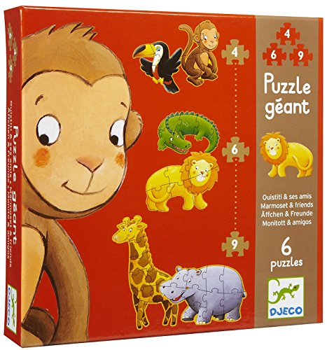 Riesenpuzzle 'Äffchen & Freunde' von Djeco, für Kinder ab 2 Jahren
