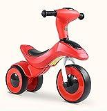 Dreirad Kinder Balance Schiebe Auto Baby Walker Kind 2-3-6 Jahre Alt Trike Kinder 3 Räder (Farbe : Rot)