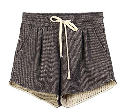 EOZY Femme Shorts De Sport Couleur De Bonbon Coton Running Casual Fitness Noir