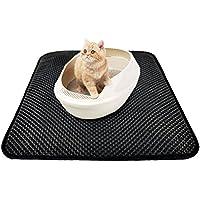 UEETEK 46x60cm 2-Layer Cat Litter Mat Impermeable Litter Trapping Mat seguimiento de la basura fuera de la caja de arena