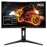 AOC Gaming C24G1 Gebogen monitor, 59,9 cm (23,6 inch), FHD, HDMI, 1 ms reactietijd, DisplayPort, 144 Hz, 1920 x 1080 pixels, Free-Sync, zwart