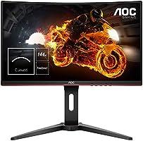 AOC Gaming C24G1 Gebogen monitor, 59,9 cm (23,6 inch), FHD, HDMI, 1 ms reactietijd, DisplayPort, 144 Hz, 1920 x 1080...