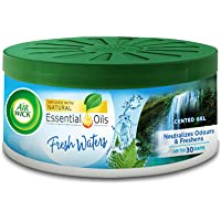 Airwick Air Freshener Gel Can, Fresh waters, 70gm   Suitable for Home, Car & Office