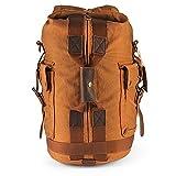 H-ANDYBAG Handgepäck Washed Canvas Handtasche Unisex Wochenende Duffle Rucksack Passend für 14 Zoll Laptop