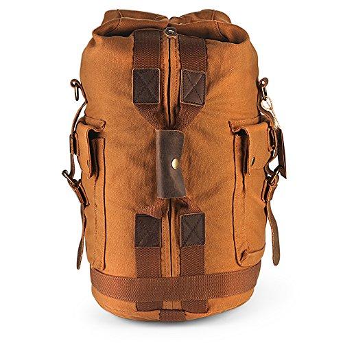 Handgepäck H-ANDYBAG Washed Canvas Handtasche Unisex Wochenende Duffle Rucksack Passend für 14 Zoll Laptop