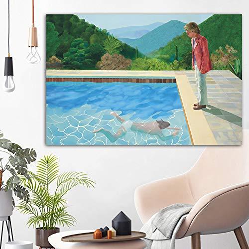 RTCKF Art Monet Impressionista Famoso Dipinto Giglio d'Acqua Dipinto sul Muro Copia Fiore Tela Foto per la Decorazione del Soggiorno (Senza Cornice) A5 30x40 CM