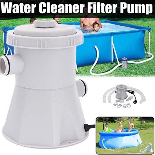 Jamicy Elektrische Swimmingpool-Filterpumpe des elektrischen Stroms 220V für oberirdische Pools, die Werkzeug säubern (UK)