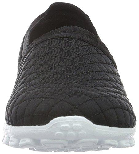 Skechers  Ez Flex Bank Roll, Sneakers Basses femme Noir (BKW)