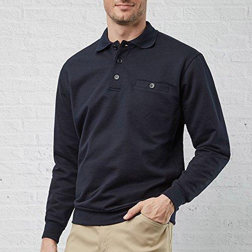 PIONIER WORKWEAR Herren Sweatshirt mit Polokragen in marineblau (Art.-Nr. 2220) Marineblau