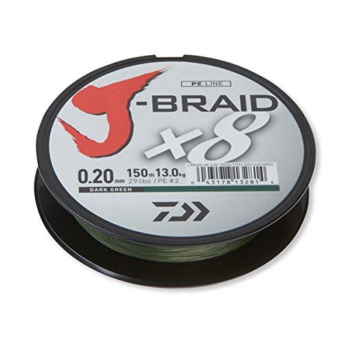 Daiwa J-Braid X8 50 Meter dunkelgrün 0,06 mm