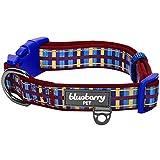 Blueberry Pet Halsbänder 2,5cm L Schottisches Abenteuer Madison Streifen Designer Gepolstertes Hundehalsband