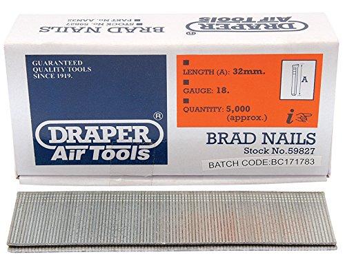 Draper 59827 - Tira de clavos (tamaño: 32mm)