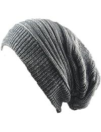 Sombrero de Gorro de invierno Gorros de punto Tejido de punto Lana Calentar  Sombrero Gorrita Cráneo Gorra para Mujer  … fd66268b6f3